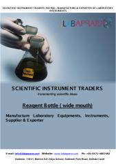Labappara Manufacturers of Reagent Bottle ( wide mouth) Plastic & Glass Lab ware used in laboratory.pdf