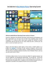 Introduction to Best Mobile Phones Operating System.pdf