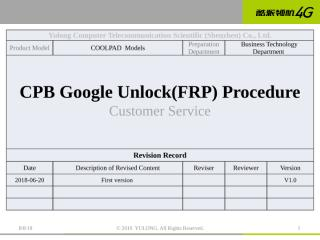 Coolpad Model CPB Google Unlock(FRP) Guide V1.0.pptx