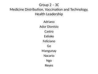 3C - Group 2 - Medicines, Vaccination and Technology.pptx