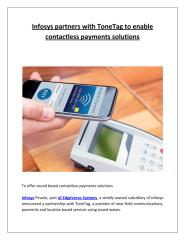Infosys partners with ToneTag to enable contactless payments solutions.pdf