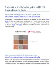 Indian Granite Slabs Supplier in UK US Russia Exports India.docx