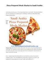Pizza Prepared Meals Market in Saudi Arabia.doc