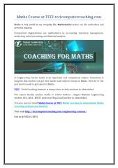 Maths Course at TCCI-tccicomputercoaching.com.doc