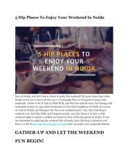 5 Hip Places To Enjoy Your Weekend In Noida.pdf
