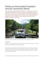 Plavby po francouzských kanálech skrývají romantická zákoutí.docx