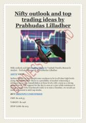 Nifty outlook and top trading ideas by Prabhudas Lilladher.pdf