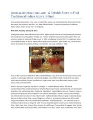 Aromaazinternational.com A Reliable Store to Find Traditional Indian Attars Online!.pdf