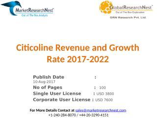 Citicoline Revenue and Growth Rate 2017-2022.pptx