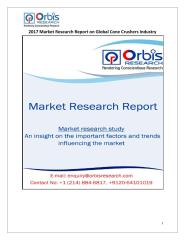 2017 Market Research Report on Global Cone Crushers Industry.pdf