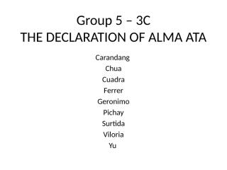 3C - Group 5 - Declaration of Alma Ata (First 5 Statements).pptx