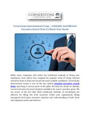 Cornerstone International Group – A Reliable And Efficient Executive Search Firm To Match Your Needs.pdf